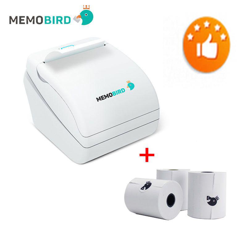 Prix pour Nouvelle Mise À Jour MEMOBIRD 58mm Thermique Imprimante Wifi Imprimante de poche Micro USB POS Interface envoyer 3 pièces papier livraison gratuite