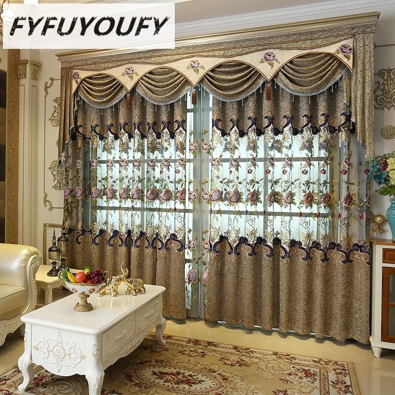 FYFUYOUFY Tirai mahkamah retro untuk ruang tamu Berkualiti tinggi - Tekstil rumah