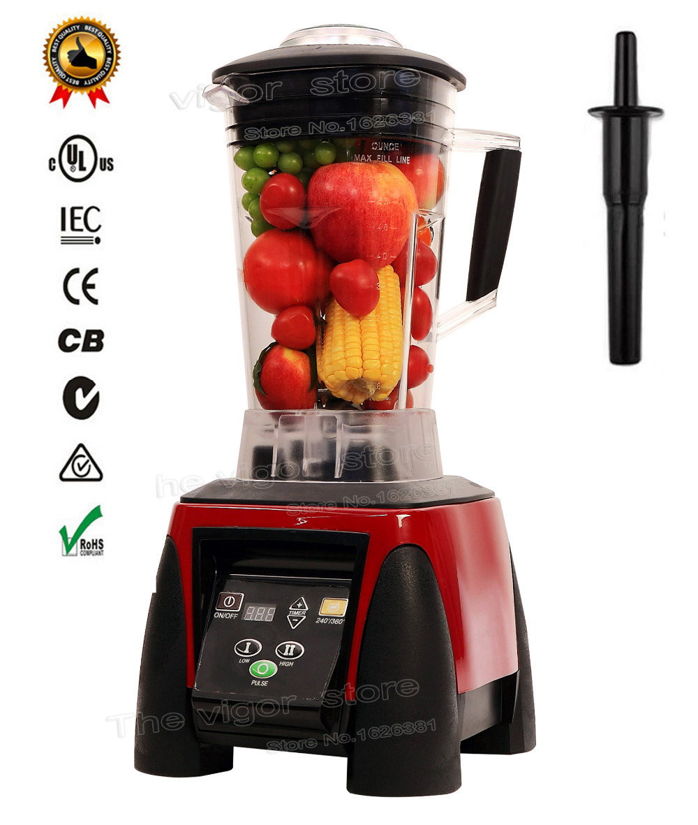 BPA Free 3HP 45000RPM 2200W 2L Heavy Duty Commercial Professional Digital Automatic Timer Blender Juicer Food Processor Mixer