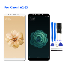 For Xiaomi Mi A2 6X LCD Display + Touch Screen Digitzer Assembly with Frame for Xiaomi Mi A2 6X 6G 128GB 4G 64GB Snapdragon 660 xiaomi mi note 4g 64gb white