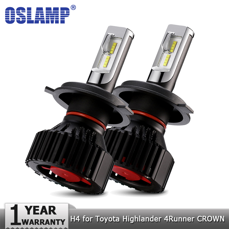Oslamp H4 LED Headlight Bulbs Hi lo 8000LM Car Auto Led Headlamp 12v 24v for Toyota Highlander 4Runner Avalon CROWN PRODO PRIUS
