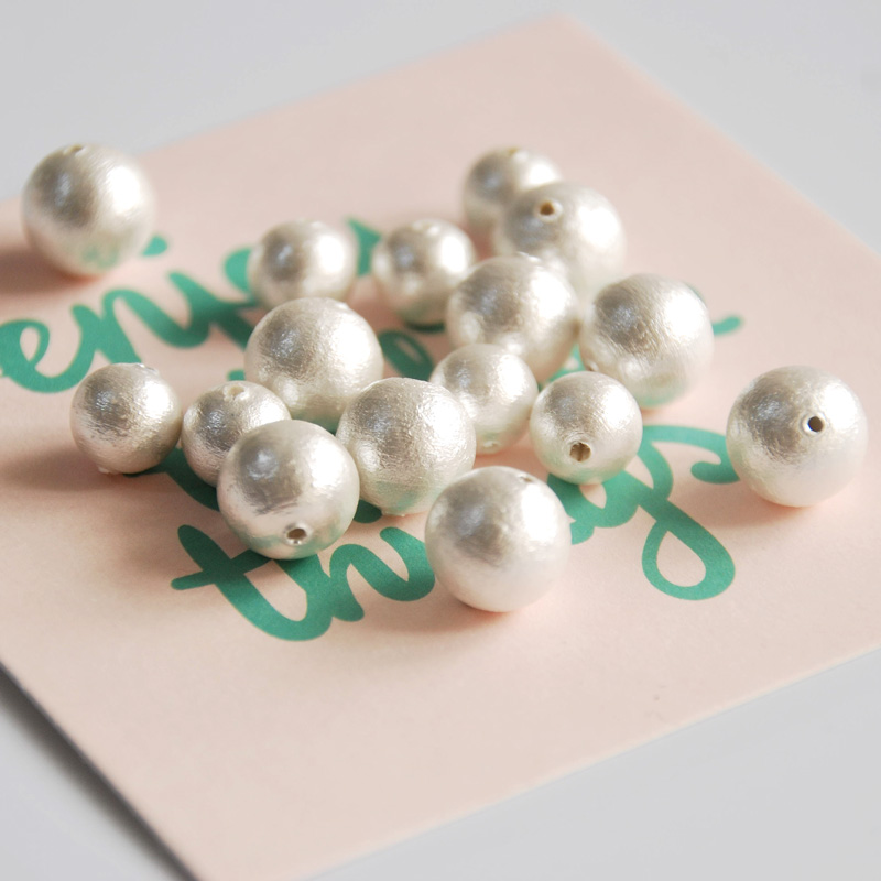 wholesale Japanese cotton pearl white pink golden grey 6/8/<font><b>10</b></font>/12/14/<font><b>16</b></font>/18/20mm jewelry making DIY for women image