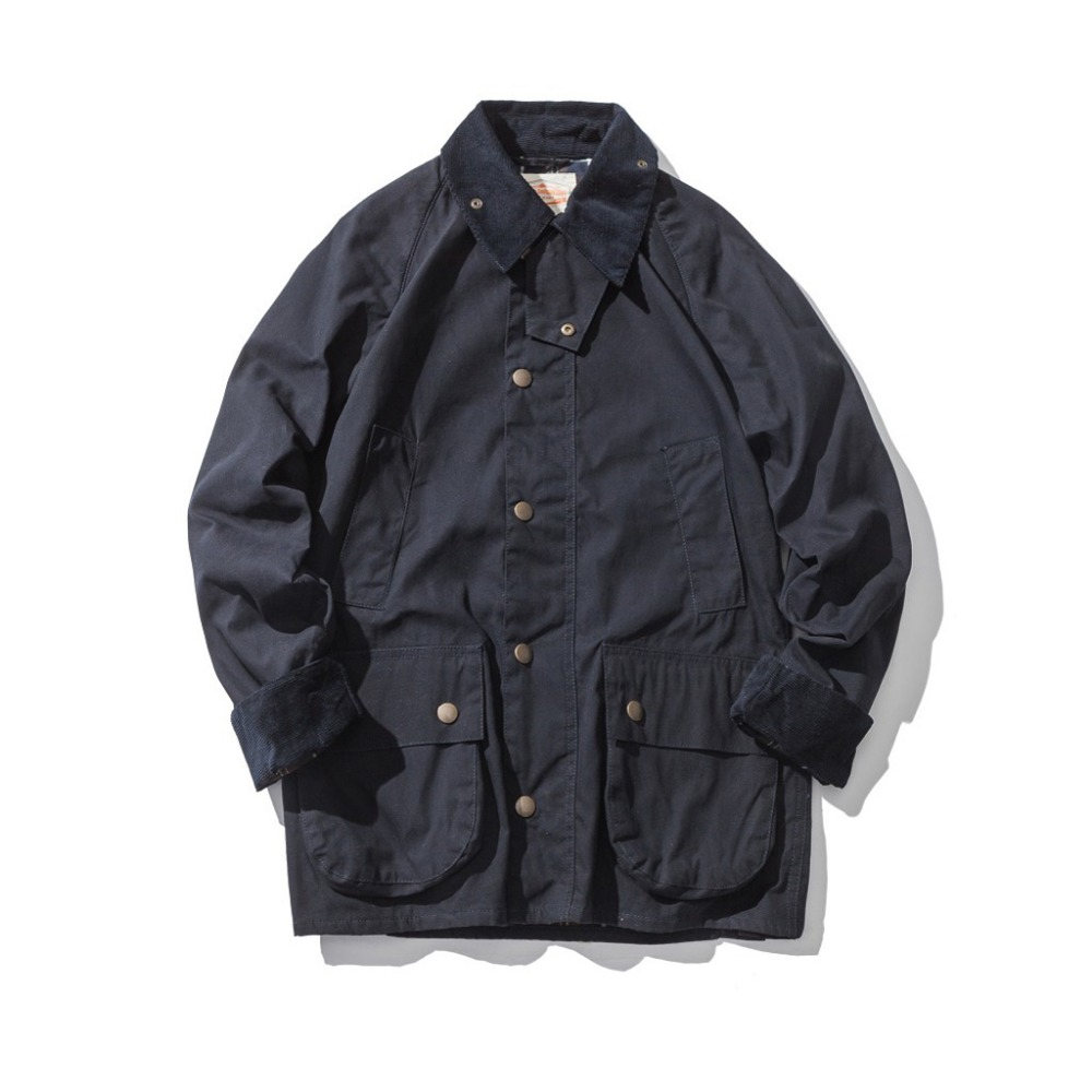 Men's Wax Oil Coat Waxed Waterproof Jacket Vintage Clothes Trench Coat-in Jackets from Men's Clothing    3