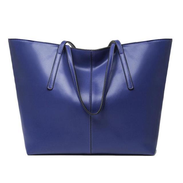 2016 100% Genuine Leather Women Top-Handle Bags Simple Ladies Shoulder Bag Women Leather Handbag LX09