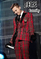 Free Shipping!!! Fashion Scottish Style  Bigbang  Red Plaid Leather Collar  Suit  Jacket singer stage costumes S-5XL