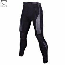 Jogger b.bang bodybuilding skinny jogging basketball tights gym trousers mens leggings