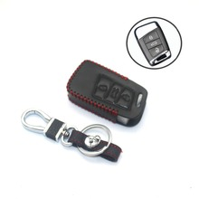 Car Leather Smart Key Cover Case Protector for VW  Passat B8 2017