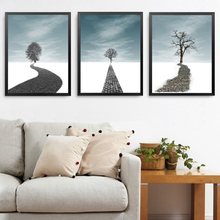 Landscape Tree Canvas Painting Modern Poster Print Nordic Wall Art Picture for Living Room