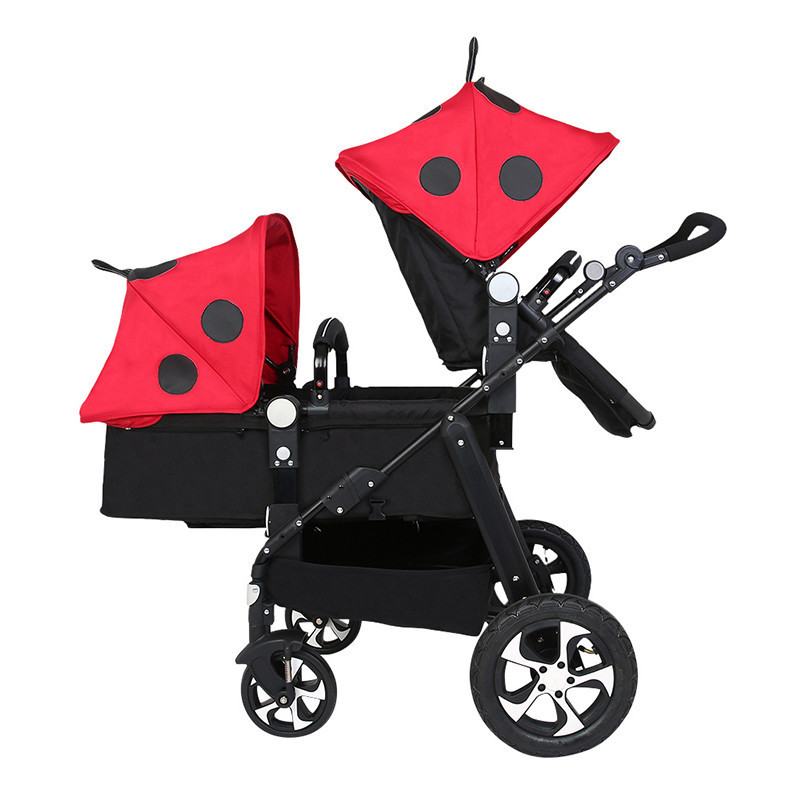 Twin baby stroller high landscape second child baby carriage double folding ,front and rear can recline can sit for newborns baibos bai twin landscape baby stroller double front and rear can lie sit