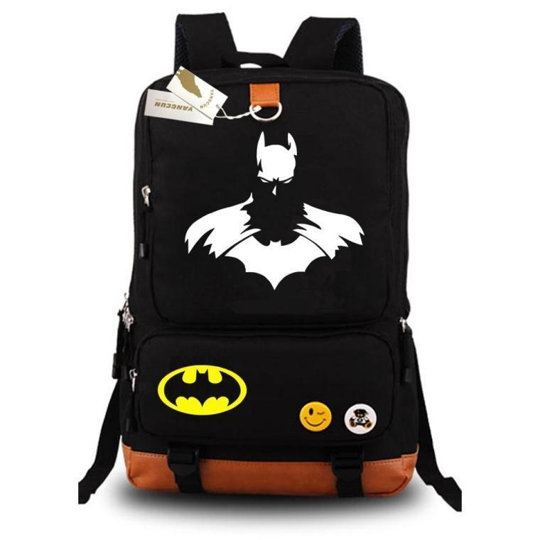 где купить High Quality New Fashion Batman Backpack Boy Girl School Bags For Teenagers Canvas Backpacks Shoulders Package по лучшей цене