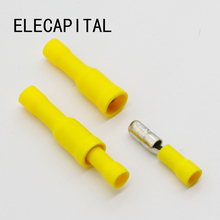 Hot 50 X Yellow Male Female Bullet Connector Crimp Terminals Wiring