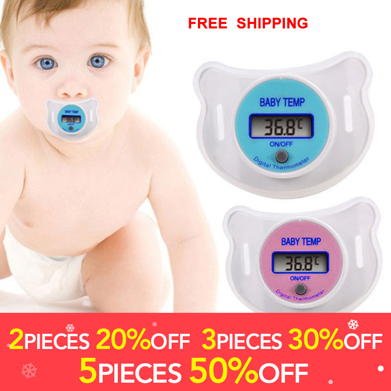 New Safety Oral pacifier thermometer Pacifier thermometers Children's thermometers Care Feeding Nipple For Babys Kids Accessory