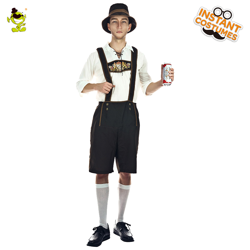 New Mr.Oktoberfest Beer Costume Carnival Party  Masquerade  Halloween Party Bavarian Costume Cosplay Beer Carnival Party