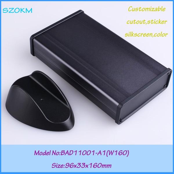1 piece aluminum enclosure aluminum case box  aluminum box for electronic project 96x33x160 mm 1 piece free shipping black color aluminum housing case for electronics project case 83 h x120 w x155 l mm