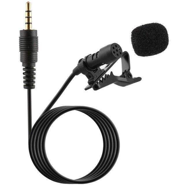 Professional For Phone Portable Mini Stereo HiFi Sound Quality Condenser Microphone Clip Lapel Mic 4