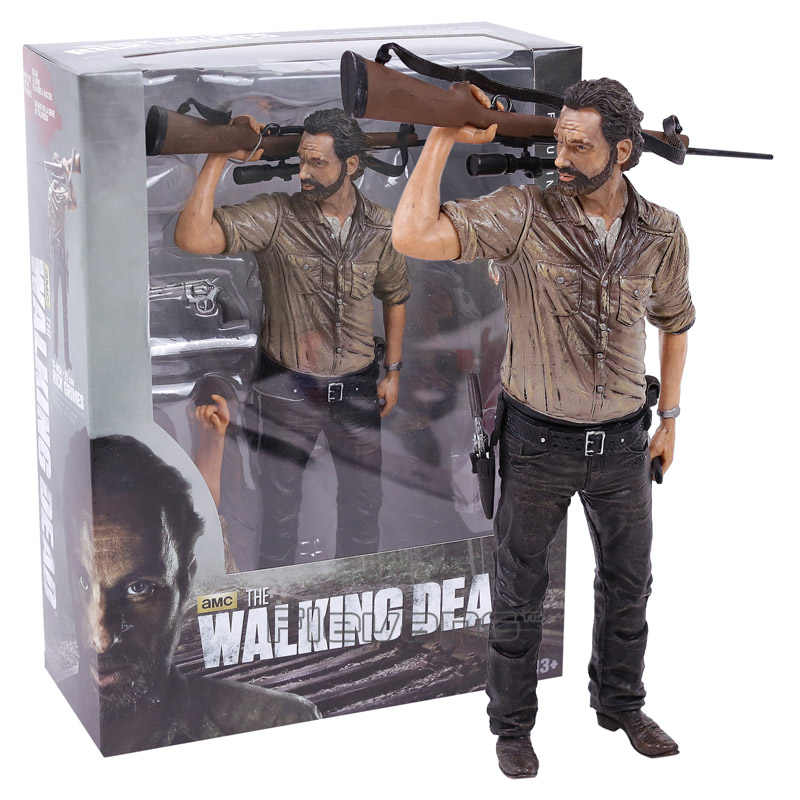 Walking Dead Rick Grimes PVC Action Figure Koleksiyon Model Oyuncak 2 Tip 10 inç 25 cm