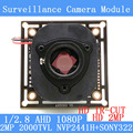 "2.0MP 2000TVL 1920*1080 AHD 1080P Camera Module Circuit Board,1/2.8"" CMOS NVP2441+SONY322 PCB Board+HD IR-CUT dual-filter switch"