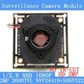 """2000TVL 2.0MP 1920*1080 Câmera AHD 1080 P Placa de Circuito do Módulo, 1/2. 8 """"CMOS NVP2441 + SONY322 Placa PCB + HD IR-CUT interruptor dual-filtro"""