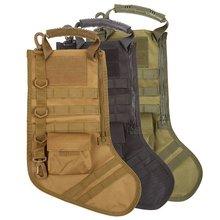 Висячая Тактическая Molle Рождественская сумка для чулок, дамская сумка-капельница, сумка для хранения, военная Боевая охотничья сумка