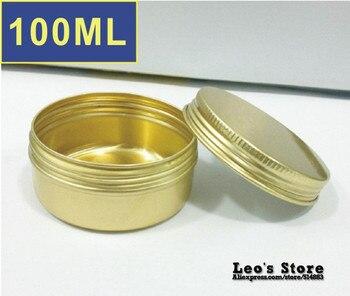 Wholesale 28mmx82mm 100pcs/lot 100ml golden aluminum Jars,cream & cosmetics container,electronic protect,LAJ-20b