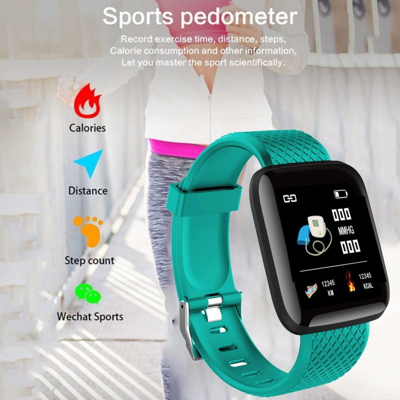 Men Women Heart Pedometer Android Digital Rate Watch Sports Running Electronic Monitor For IOS Smart Fitness