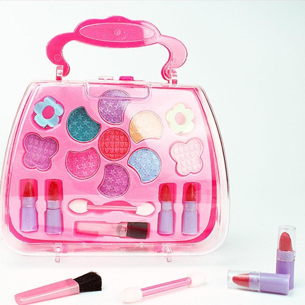 Children's Cosmetics Princess Makeup Box Set Safe Non-Toxic Girl Makeup Kit Box Eyeshadow Lips Palette Box