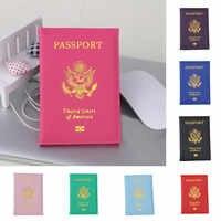 Funda de Pasaporte de Estados Unidos de viaje para mujer, funda de Pasaporte para chica, porta Pasaporte de Estados Unidos, color rosa