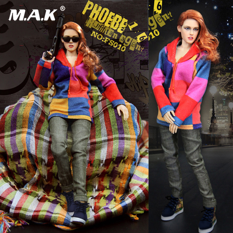 Collectible 1/6 Scale Phoebe Agent Kristen Stewart Full Sets Figure Doll Toys Gift For Collection 1 6 fs010 phoebe agent kristen stewart american ultra movie full sets figure with head sculpt female body shoes jeans model m3n
