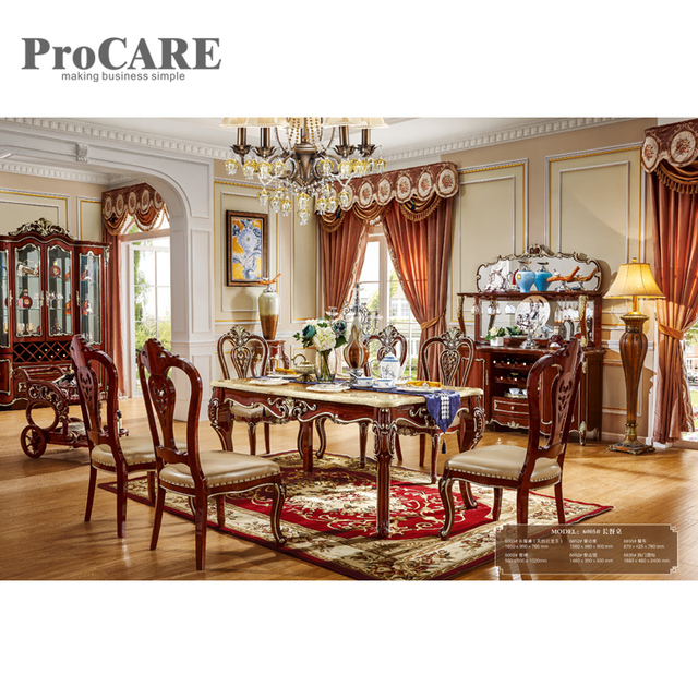 European Style Marble Round Dining Table With Rotating Centre 6005