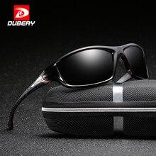 DUBERY Polarized Night Vision Sunglasses Men's Driving Sun Glasses Men Square Sport Brand Luxury Mirror Shades Oculos Zipper Box