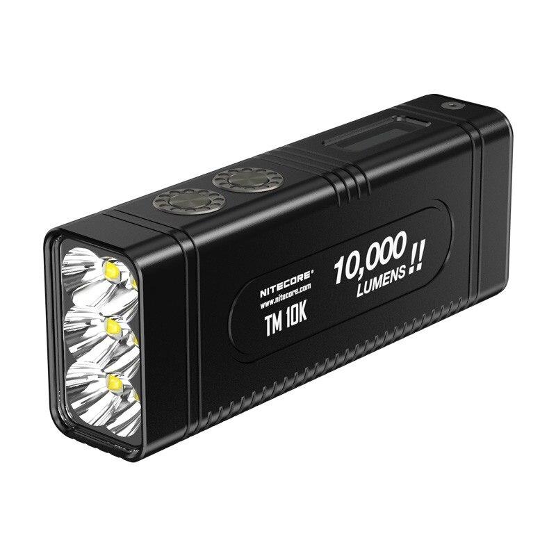 NITECORE TM10K LED lampe de Poche CREE XHP35 HD 10000 LM Rechargeable Haute Lumière lampe de Poche avec USB De Charge + 4800 mah Batterie