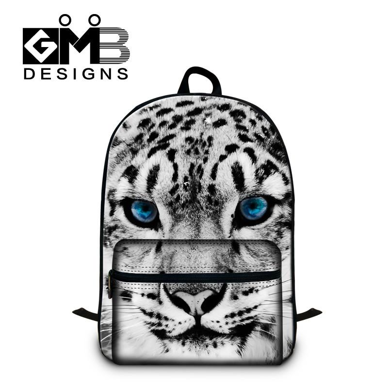 snow_blue_eye Cute 16-inch Children Backpack Animal School Bag Husky Dog School Backpack Kids Boys Age 7-13 Mochilas Escolares Infantis