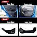 4pcs Fabric Door Protection Mats Anti-kick Decorative Pads For Chevrolet Aveo 2011-2014
