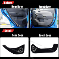 4pcs Fabric Door Protection Mats Anti kick Decorative Pads For Chevrolet Aveo 2011 2014