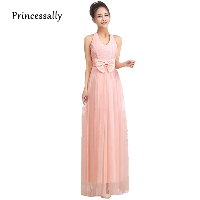 Buy sweet pink dress long bridesmaid for Summer dresses for wedding party