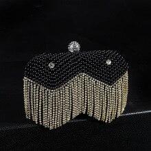Luxus Diamant Quaste Perle Perlen Frauen Abendtasche Sunflower Strass Clutch Echte Bild Party Hochzeit Taschen SMYCYX-A0078