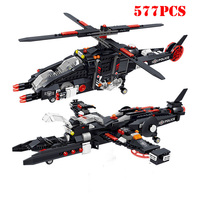 City Police 2 in 1 Military Helicopter Airplane Building Block Compatible Legoing Swat Special Forces Fighter Army Bricks Toys
