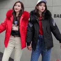 Parka Women's Long Down Winter Jacket women Casual Fur Collar Hooded Female Jacket Warm Thick Long Coat Women's Coat Plus Size