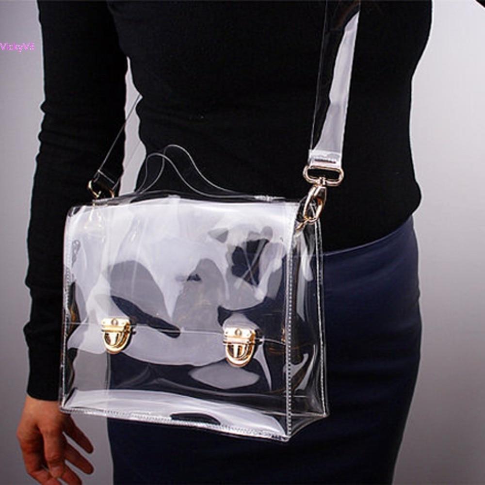 Summer Fashion Unisex Pvc Transparent Envelope Clutch
