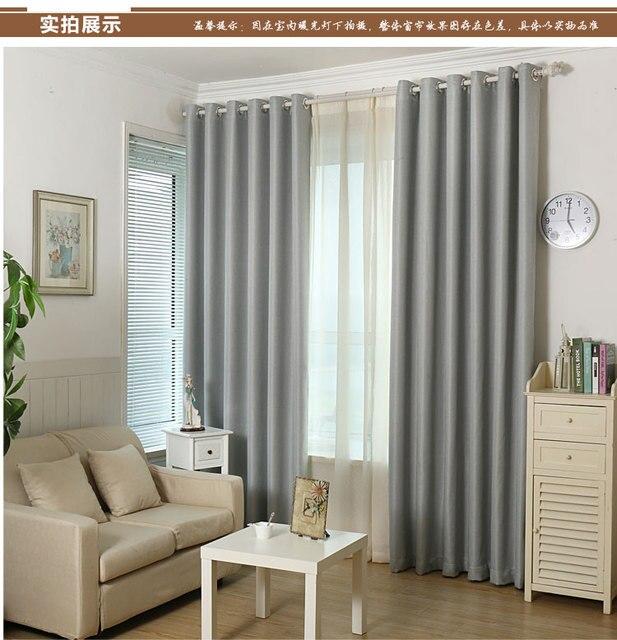 Breve ropa moderna cortina completa fluido tela gruesa