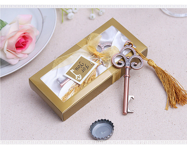 Wedding Gifts For The Guests: Antique Victorian Key Bottle Opener 10PCS Wedding Favors