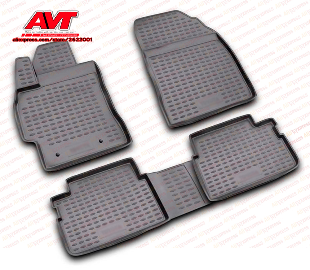 Floor Mats For Toyota Auris 2007-2013 4 Pcs Rubber Rugs Non Slip Rubber Interior Car Styling Accessories