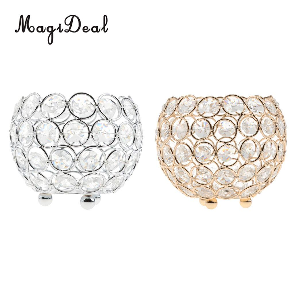 Pair Of 3 Inches Votive Crystal Bling Candlestick Candle Holders Home Wedding Banquet Romantic Dining Table Centerpiece