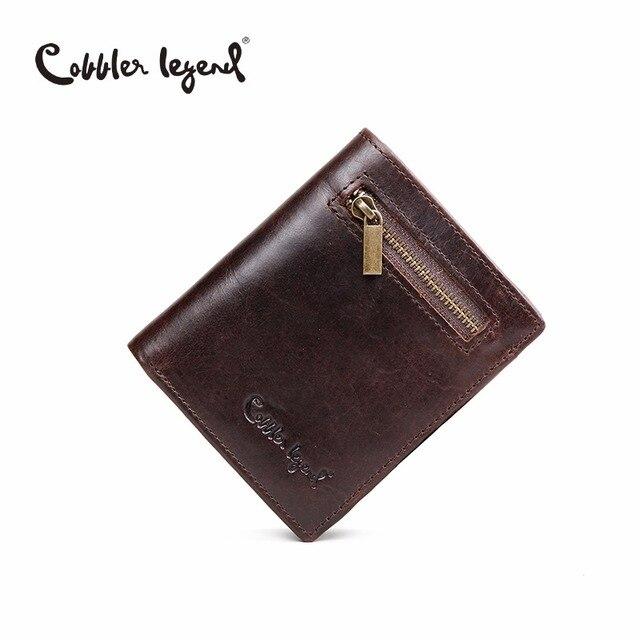 Cobbler Legend Original Wallets For Men Genuine leather Wallet Card Holder Luxury Design Clutch Business Mini Wallets Wholesaler