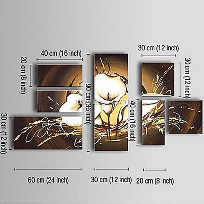 Современная Большая картина маслом цветочные картины панели на холсте для офисный настенный арт Картина домашний декор картины 100% ручная роспись - 3