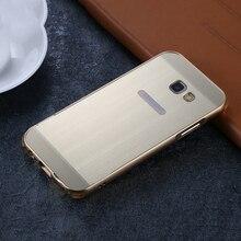 Для Samsung Galaxy A5 2017 Case Корпус Металлический Каркас Матовый PC задняя Крышка Для Samsung A3 A7 2017 A520 A320 A720 Телефон случаях
