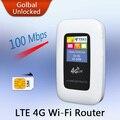 Compañero de viaje 100 M Mobile Hotspot Desbloquear Mini Portátil de Bolsillo Inalámbrico Wi-Fi MiFi Módem LTE WiFi 4G Router con la Tarjeta SIM ranura