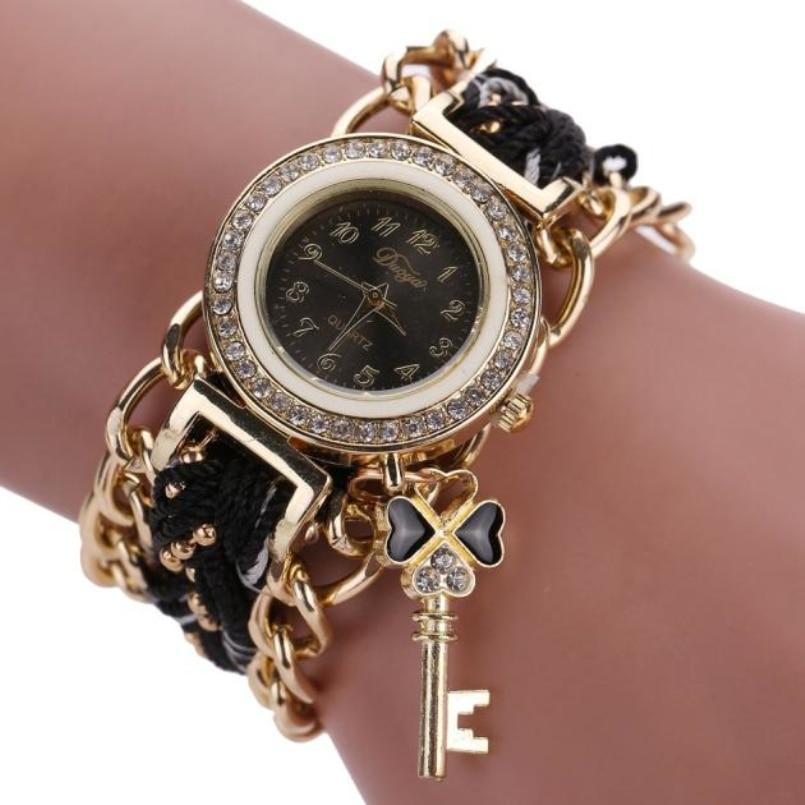 Duoya Fashion Women Bracelet Watch Quartz Gift Watch Wristwatch Women Dress Leather Casual Bracelet Watches s14