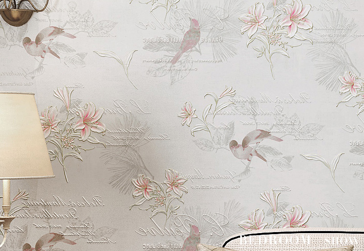 Southeast Asia and Chinese classical garden flowers non-woven wallpaper the living room restaurant bedroom study
