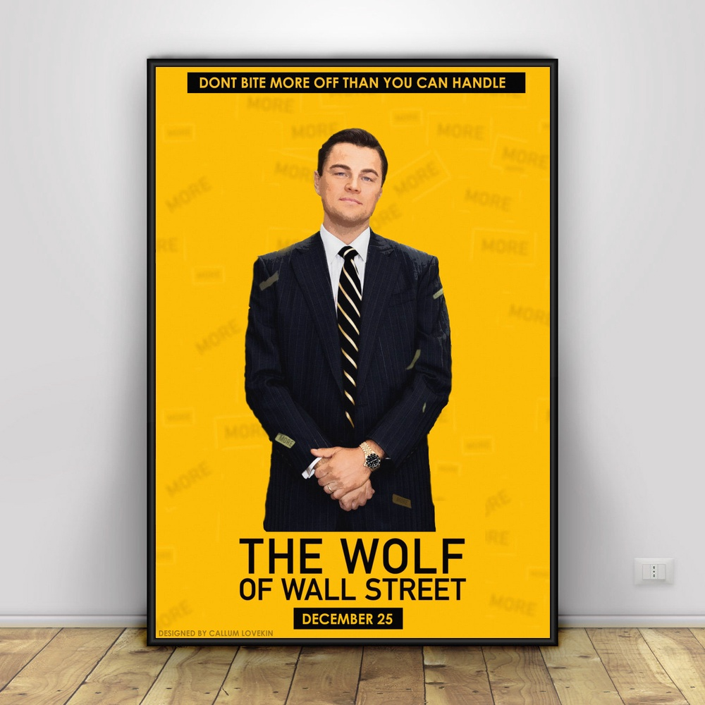 THE WOLF OF WALL STREET Movie Art Silk Poster 12x18 24x36